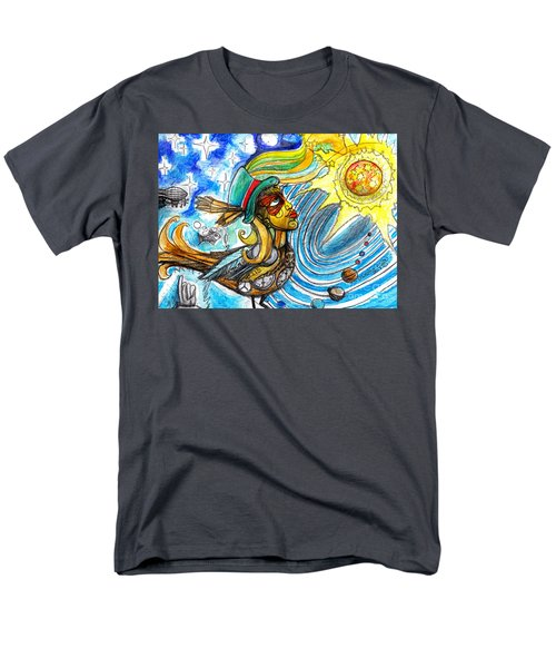 Men's T-Shirt  (Regular Fit) featuring the painting Hooked By The Worm by Genevieve Esson