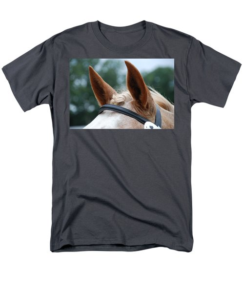 Men's T-Shirt  (Regular Fit) featuring the photograph Horse At Attention by Jennifer Ancker