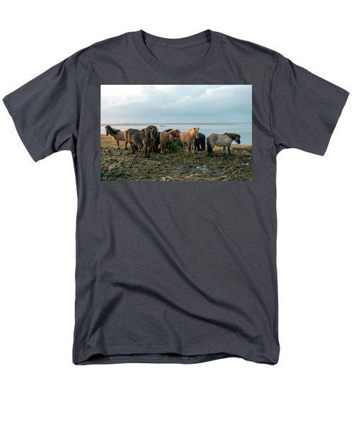 Horses In Iceland Men's T-Shirt  (Regular Fit) by Dubi Roman