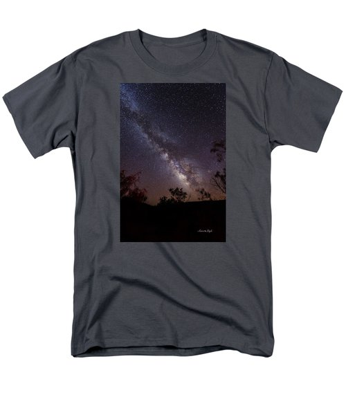 Men's T-Shirt  (Regular Fit) featuring the photograph Hot August Night Under The Milky Way by Karen Slagle