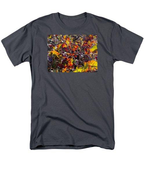 Hot Autumn Colors In The Vineyard 03 Men's T-Shirt  (Regular Fit) by Arik Baltinester