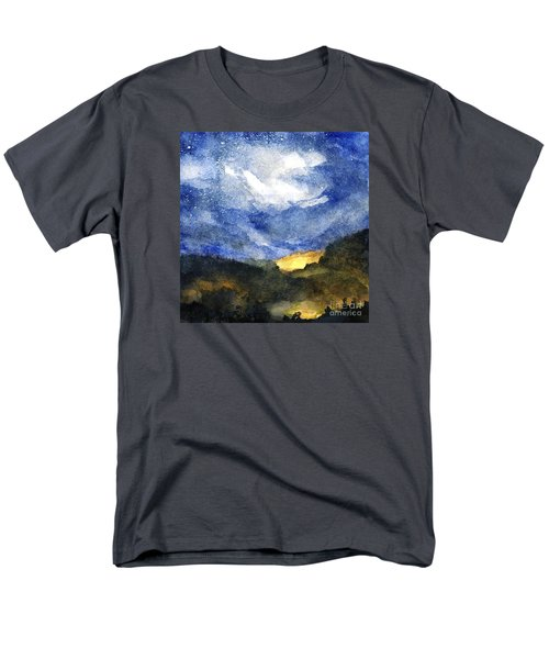 Hot Spots In Our Mountains Tonight Men's T-Shirt  (Regular Fit) by Randy Sprout