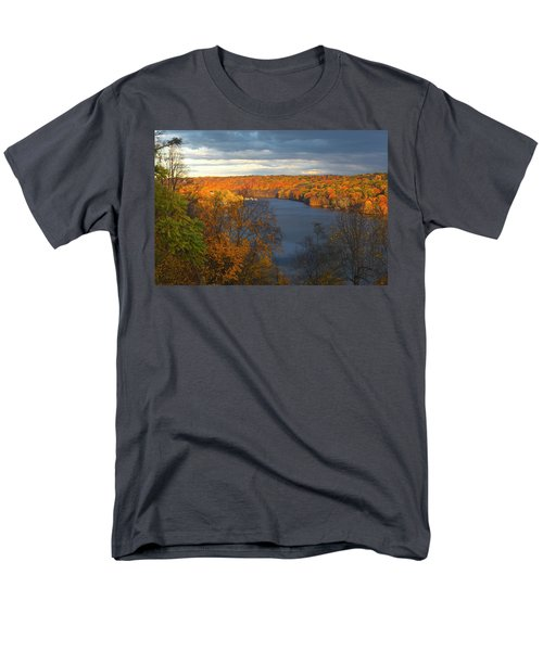 Men's T-Shirt  (Regular Fit) featuring the photograph Housatonic In Autumn by Karol Livote
