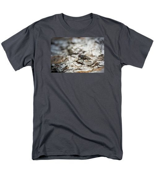 Men's T-Shirt  (Regular Fit) featuring the photograph House Fly by Chevy Fleet