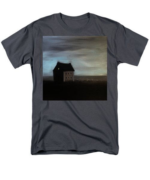 Men's T-Shirt  (Regular Fit) featuring the painting House On The Praerie by Tone Aanderaa