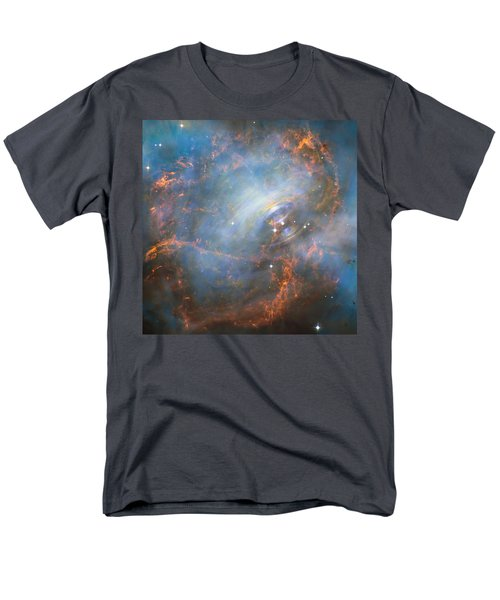 Men's T-Shirt  (Regular Fit) featuring the photograph Hubble Captures The Beating Heart Of The Crab Nebula by Nasa