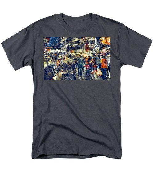 Men's T-Shirt  (Regular Fit) featuring the photograph Human Traffic by Wayne Sherriff