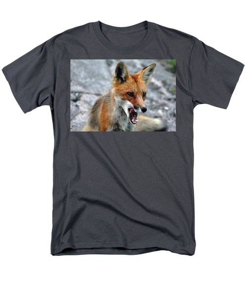 Men's T-Shirt  (Regular Fit) featuring the photograph Hungry Red Fox Portrait by Debbie Oppermann