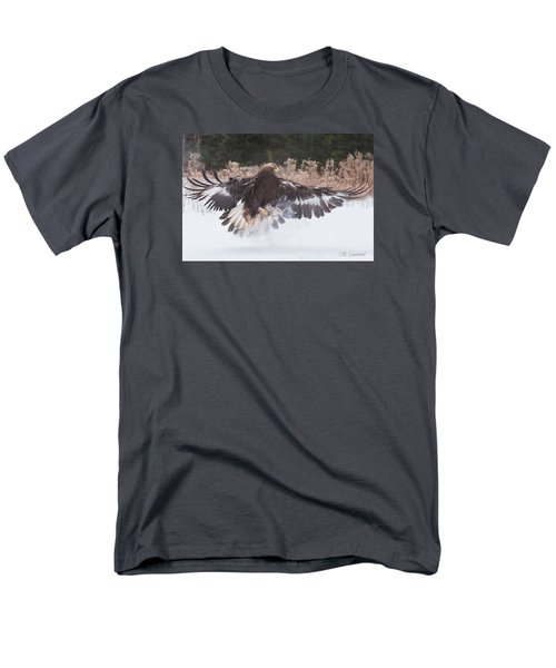 Hunting In The Snow Men's T-Shirt  (Regular Fit) by CR Courson