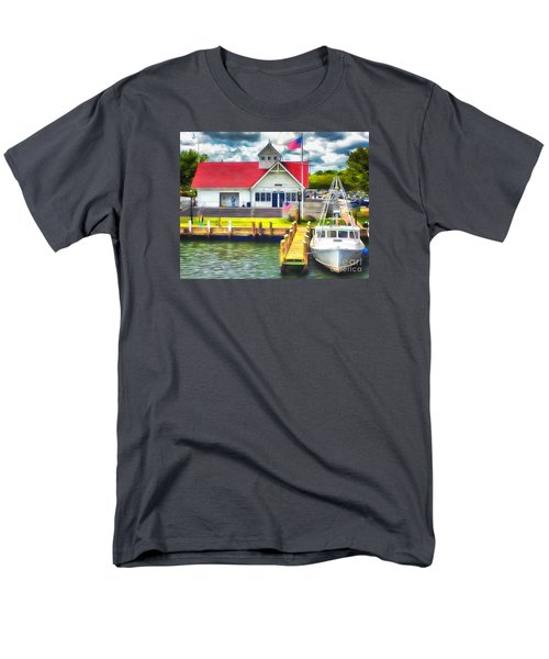 Men's T-Shirt  (Regular Fit) featuring the photograph Hyannis The Coastguard by Jack Torcello
