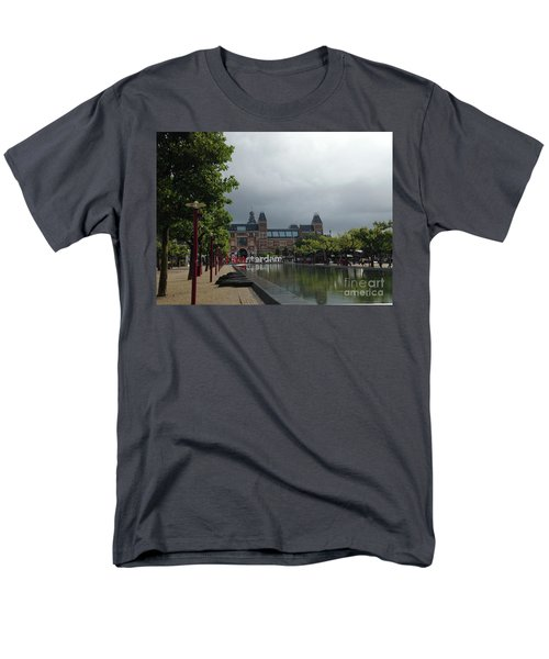 Men's T-Shirt  (Regular Fit) featuring the photograph I Amsterdam by Therese Alcorn