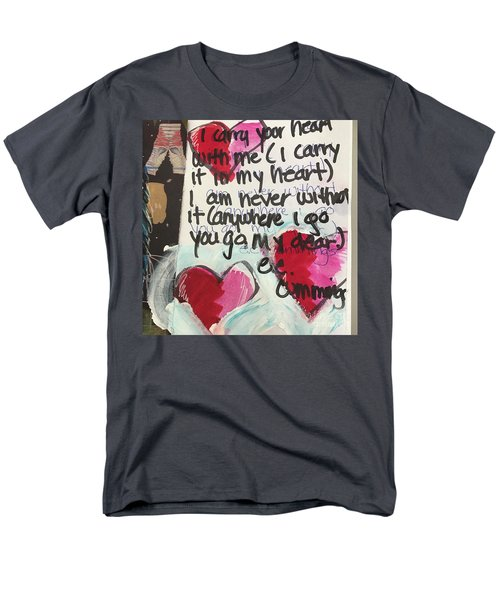 Men's T-Shirt  (Regular Fit) featuring the painting I Carry Your Heart In My Heart II by Kim Nelson