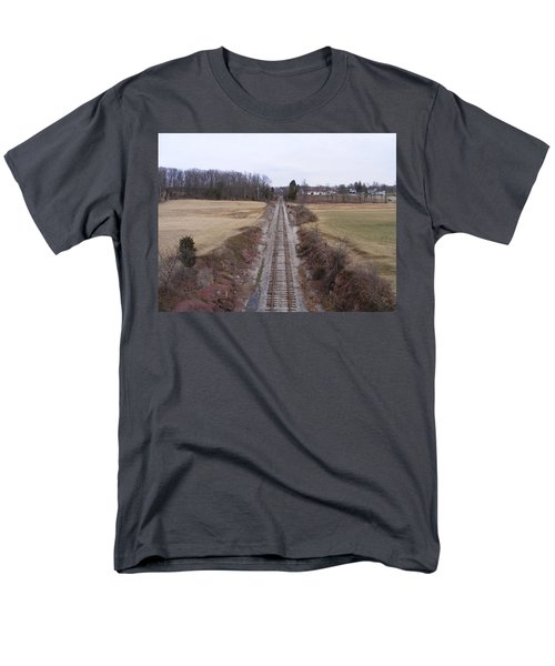 I Hear That Train A Comin' Men's T-Shirt  (Regular Fit) by Adam Cornelison
