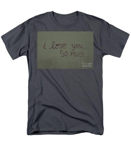 I Love You Men's T-Shirt  (Regular Fit) by Bob Hislop