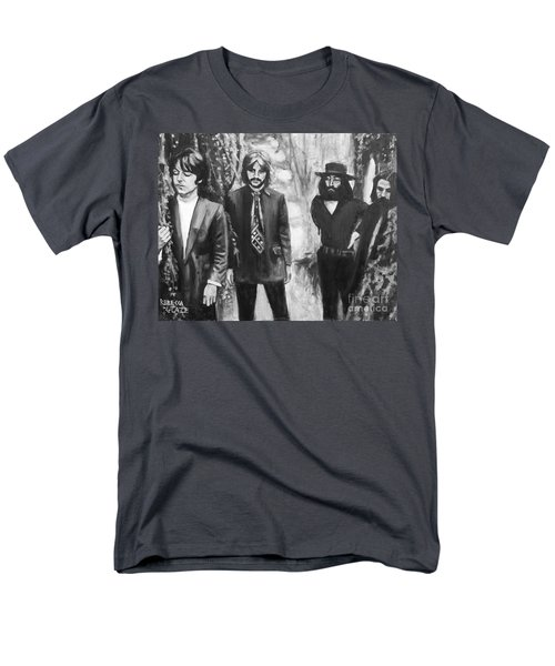 And In The End Men's T-Shirt  (Regular Fit) by Rebecca Glaze