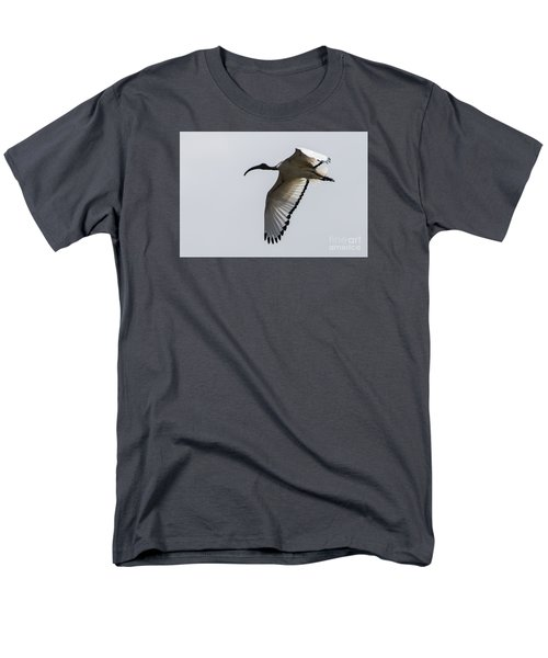 Men's T-Shirt  (Regular Fit) featuring the photograph Ibis In Flight by Pravine Chester