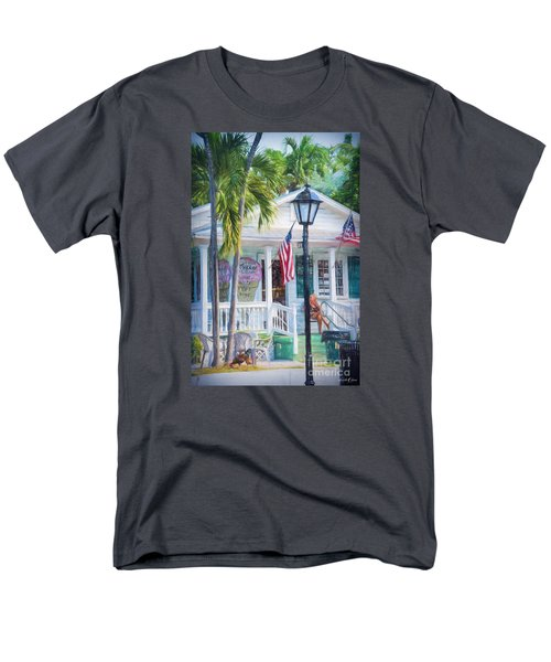 Ice Cream In Key West Men's T-Shirt  (Regular Fit) by Linda Olsen