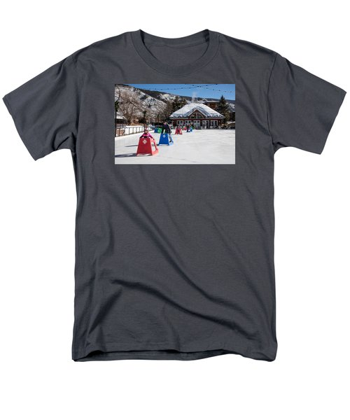 Ice Rink In Downtown Aspen Men's T-Shirt  (Regular Fit) by Carol M Highsmith