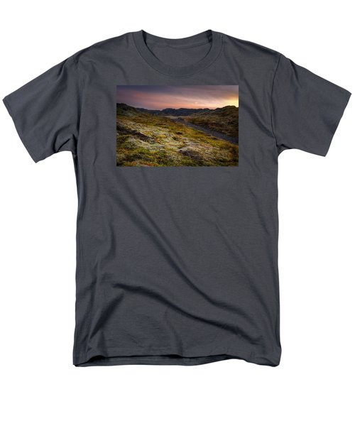 Iceland Sunset Men's T-Shirt  (Regular Fit) by Chris McKenna