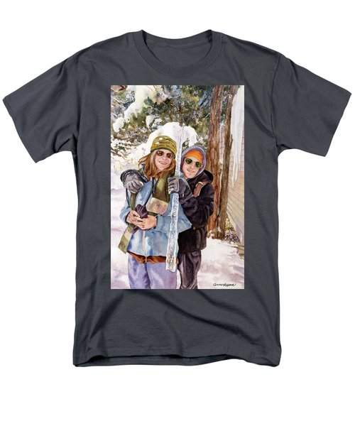 Men's T-Shirt  (Regular Fit) featuring the painting Icicle by Anne Gifford