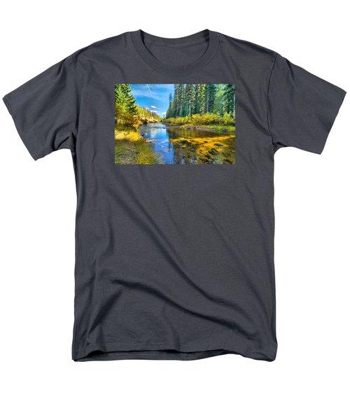 Idaho Stream 2 Men's T-Shirt  (Regular Fit) by Josephine Buschman
