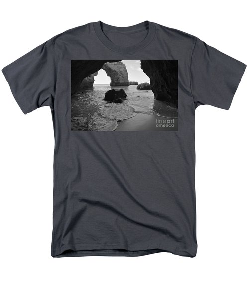 Idyllic Cave In Monochrome Men's T-Shirt  (Regular Fit) by Angelo DeVal
