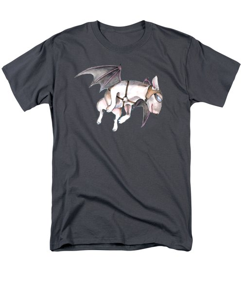 Men's T-Shirt  (Regular Fit) featuring the painting If Pigs Could Fly by Jindra Noewi