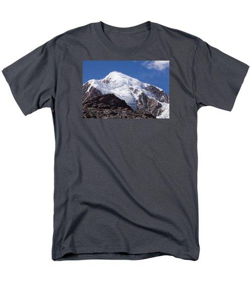 Illampu Mountain Men's T-Shirt  (Regular Fit) by Aivar Mikko