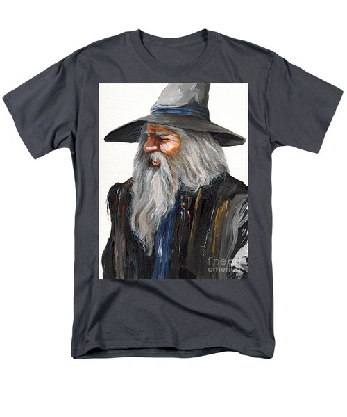 Impressionist Wizard Men's T-Shirt  (Regular Fit) by J W Baker