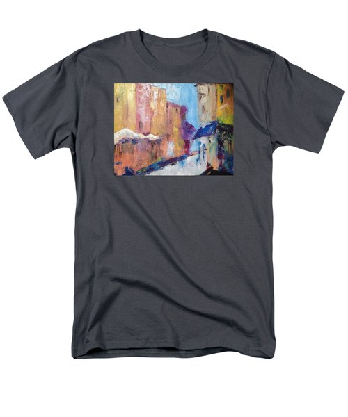 Impressions Of Monte Martre, Paris Men's T-Shirt  (Regular Fit) by Roxy Rich