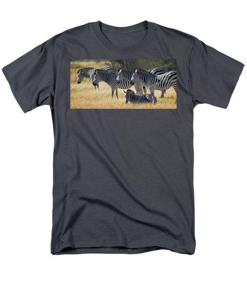 In Line Zebras Men's T-Shirt  (Regular Fit) by Joe Bonita