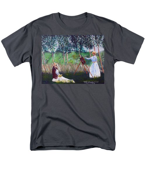 In The Woods At Giverny Men's T-Shirt  (Regular Fit) by Luis F Rodriguez