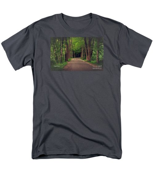 In To The   Deep Dark Woods  Men's T-Shirt  (Regular Fit) by MaryLee Parker