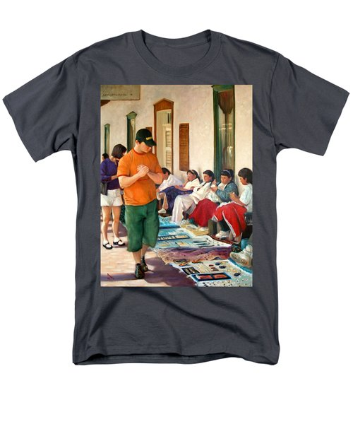 Men's T-Shirt  (Regular Fit) featuring the painting Indian Market by Donelli  DiMaria