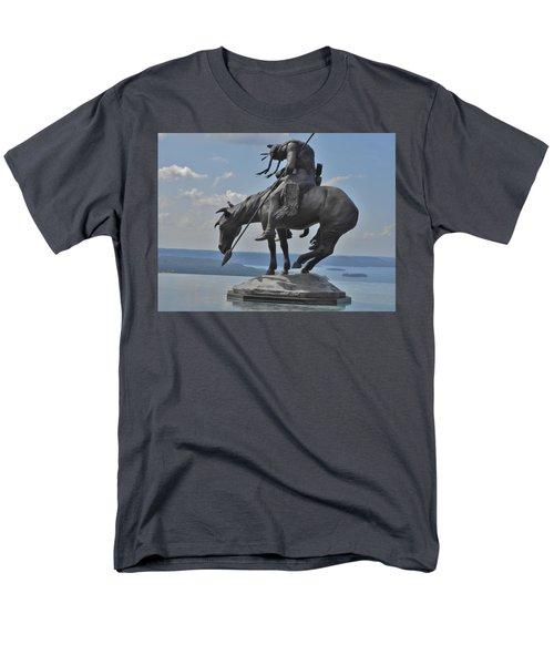 Indian Statue Infinity Pool Men's T-Shirt  (Regular Fit) by Julie Grace