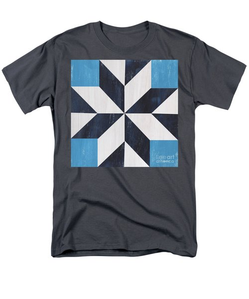 Men's T-Shirt  (Regular Fit) featuring the painting Indigo And Blue Quilt by Debbie DeWitt