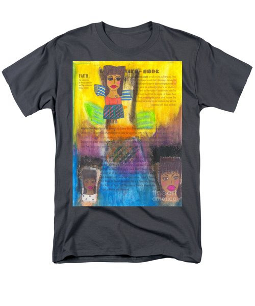 Men's T-Shirt  (Regular Fit) featuring the mixed media Inspiration Angels by Angela L Walker