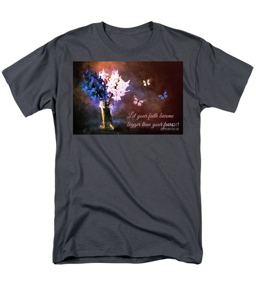 Inspirational Flower Art Men's T-Shirt  (Regular Fit) by Tina LeCour