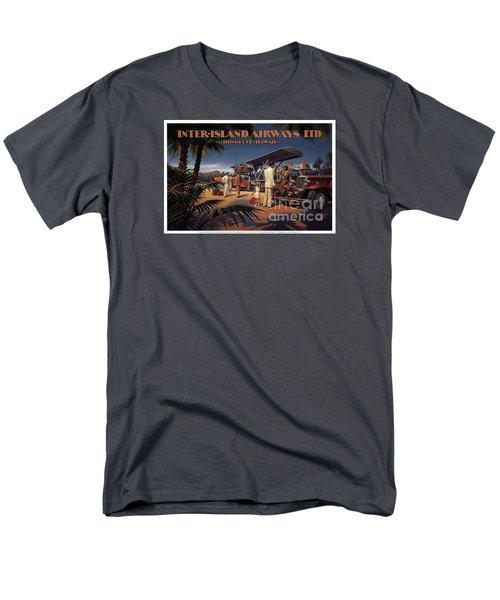 Inter Island Airways-honolulu Hawaii Men's T-Shirt  (Regular Fit) by Nostalgic Prints