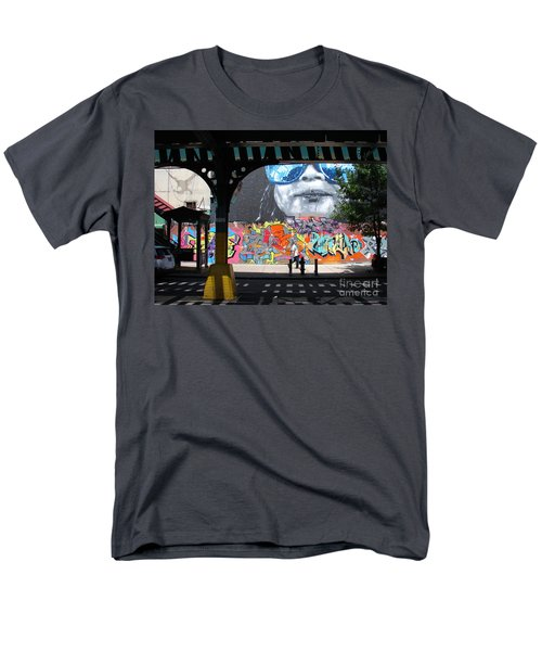 Men's T-Shirt  (Regular Fit) featuring the photograph Inwood Street Art  by Cole Thompson