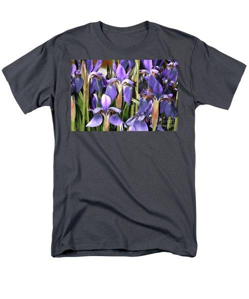 Men's T-Shirt  (Regular Fit) featuring the photograph Iris Fantasy by Benanne Stiens
