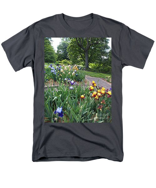 Men's T-Shirt  (Regular Fit) featuring the photograph Iris With Trees by Nancy Kane Chapman