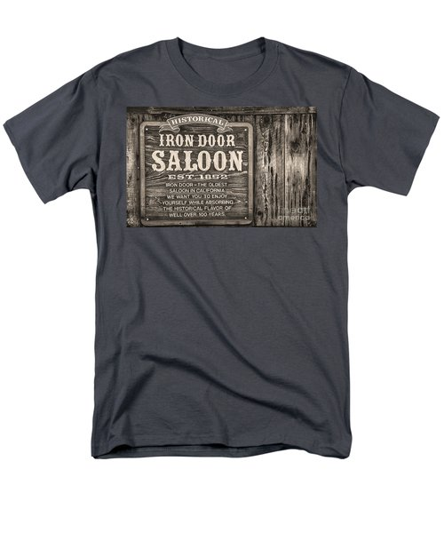 Iron Door Saloon 1852 Men's T-Shirt  (Regular Fit) by David Millenheft