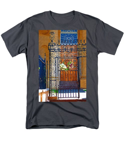 Men's T-Shirt  (Regular Fit) featuring the photograph Iron Gate by Donna Bentley