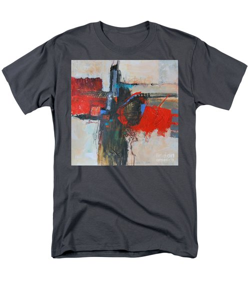 Men's T-Shirt  (Regular Fit) featuring the painting Is This The Way Out? by Ron Stephens