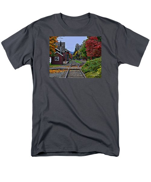 Men's T-Shirt  (Regular Fit) featuring the photograph Issaquah Train Station by Kirt Tisdale