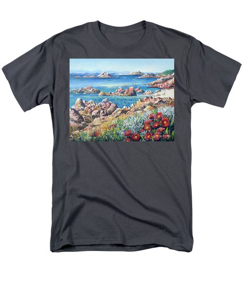 Italian Coastline Men's T-Shirt  (Regular Fit) by Lou Ann Bagnall