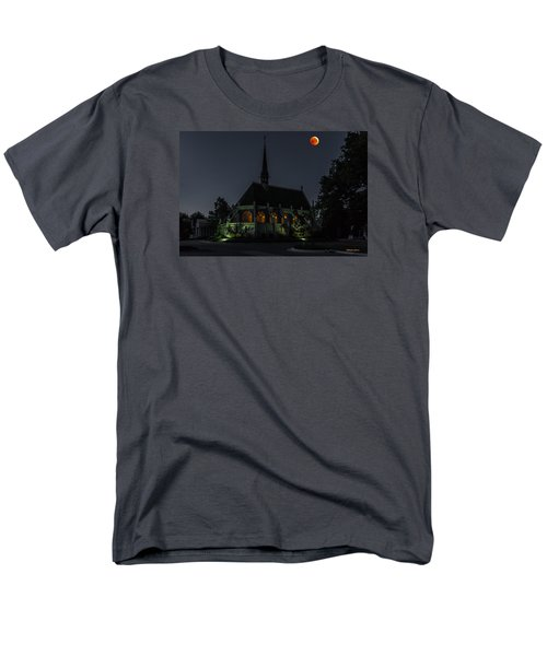 Ivy Chapel Under The Blood Moon Men's T-Shirt  (Regular Fit) by Stephen  Johnson