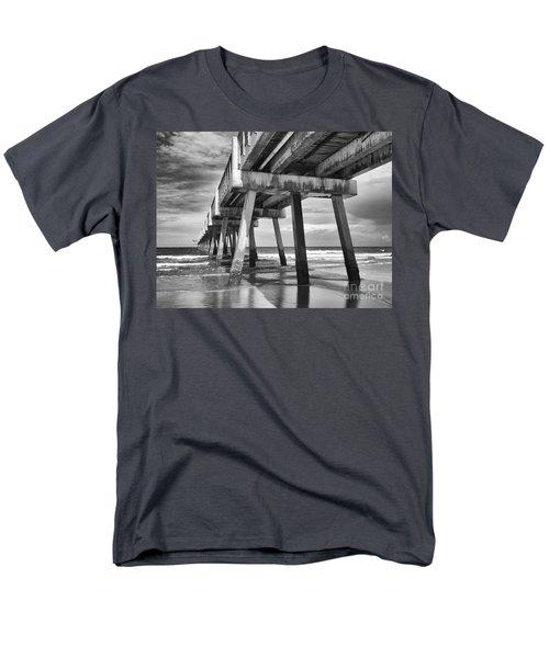 Jacksonville Beach Florida Usa Pier Men's T-Shirt  (Regular Fit) by Vizual Studio