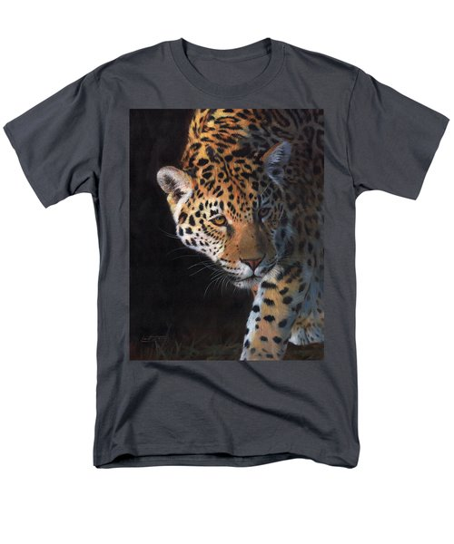 Jaguar Portrait Men's T-Shirt  (Regular Fit) by David Stribbling